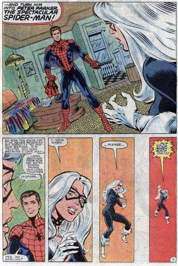 Spider-Man unmasks for Black Cat in Spectacular Spider-Man