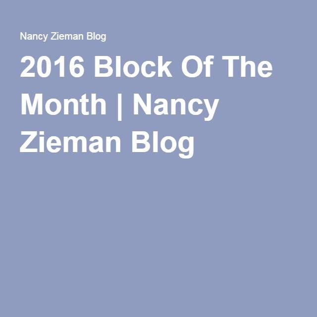 2016 Block Of The Month | Nancy Zieman Blog