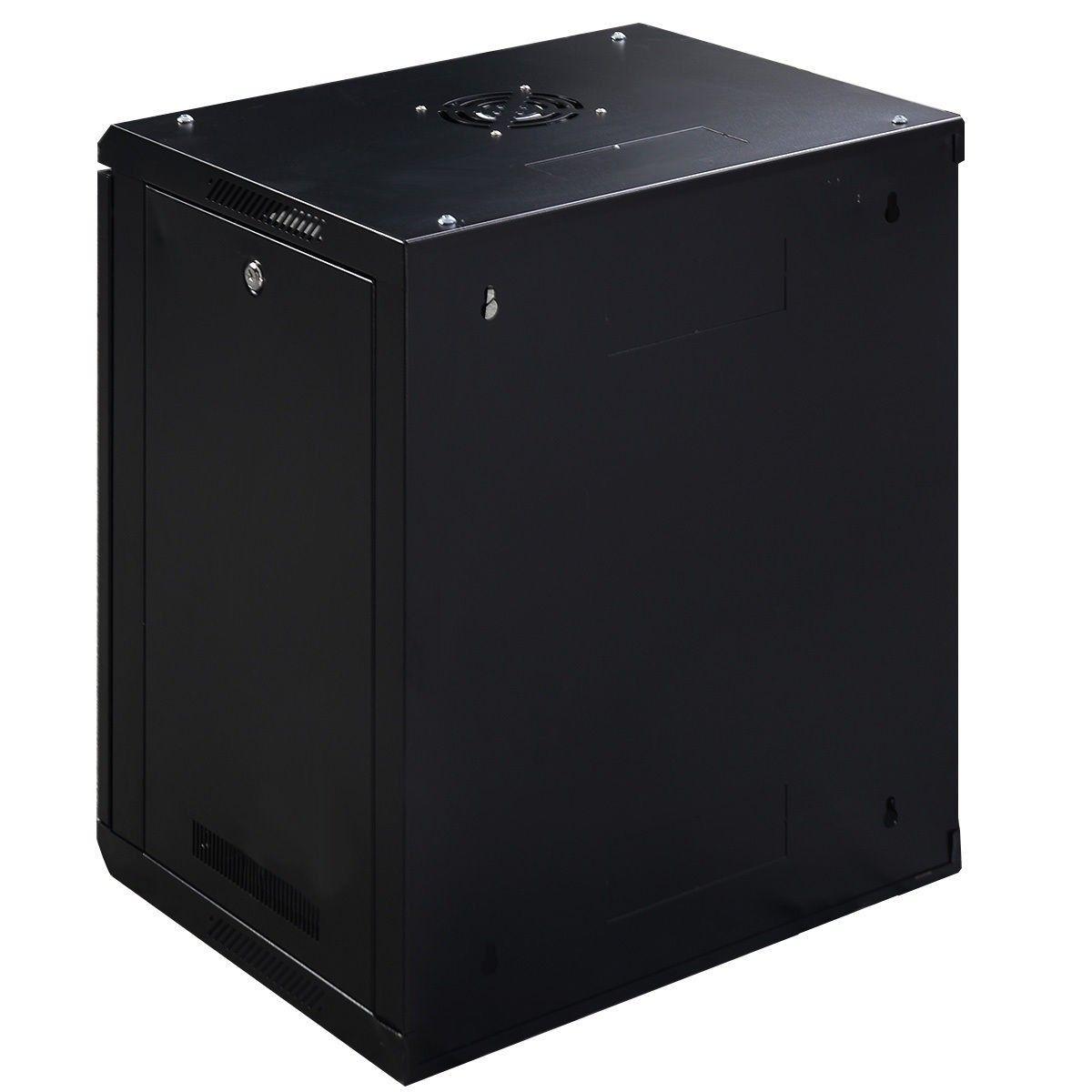 12u Wall Mount Network Server Data Cabinet Enclosure Rack Glass Door Lock Glass Door Glass Door Lock Data Cabinet