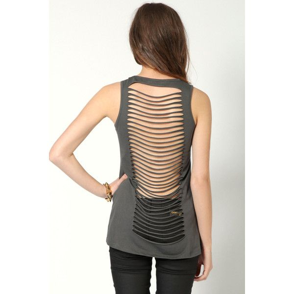Ivy Studded Slash Back Vest ($24) ❤ liked on Polyvore