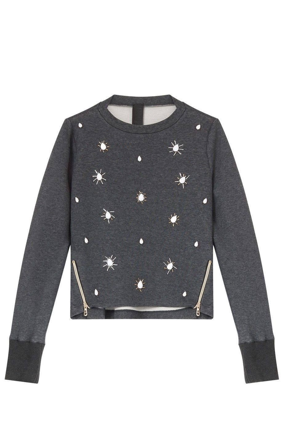 Jewel Front Sweater By TWISTY PARALLEL UNIVERSE @ http://www.boutique1.com/