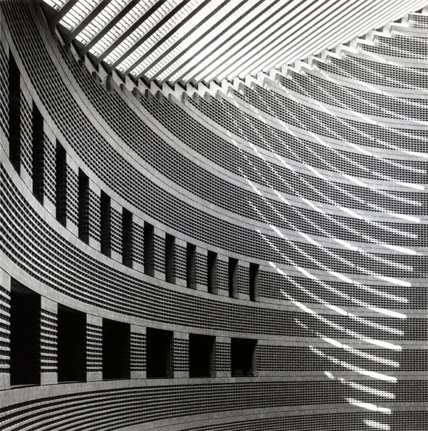 Line, Movement and Light.~Cathedral in Evry France by Mario Botta 1988-1995