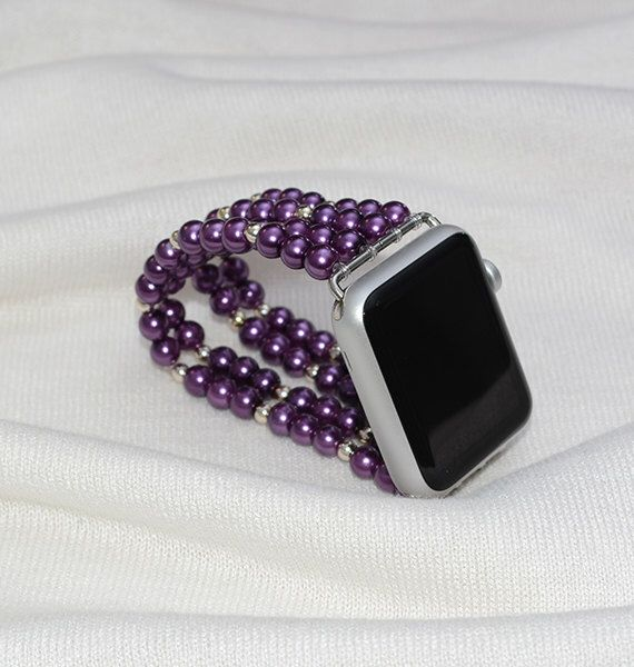 Apple Watch Strap, apple watch band 42mm, no clasp iwatch band 38mm, lugs adapter accessories, stretch fit iwatch strap for women by RainbowAppleStudio on Etsy https://www.etsy.com/listing/487671462/apple-watch-strap-apple-watch-band-42mm