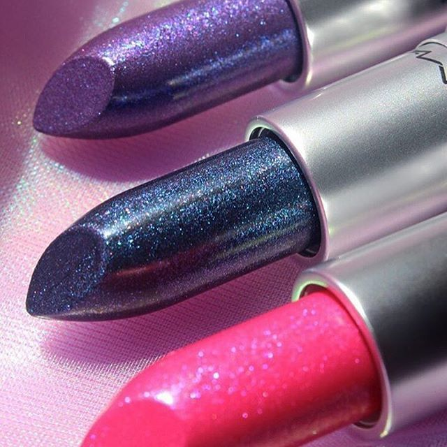 MAC Metallic Lipstick in Royal Hour, Anything Once, and Ionized Iris ...