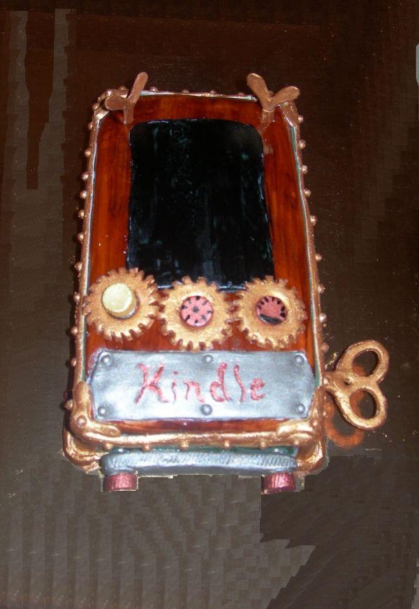 Steampunk Kindle Reader Cake