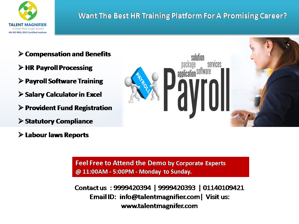 Want To Learn Hr Payroll Statutory Processing Certificate Training