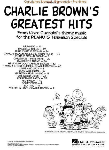 Charlie Browns Greatest Hits Songbook