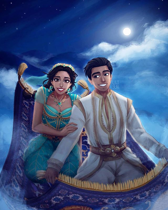 A Whole New World 🎵 My fanart for 'Aladdin' is finally