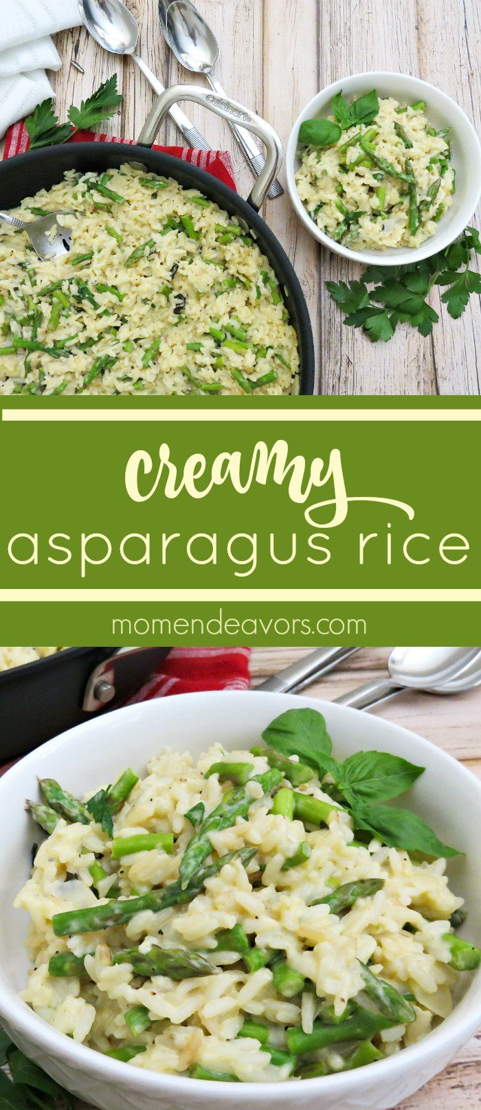 Creamy Asparagus Rice A Delicious One Pan Dish Perfect