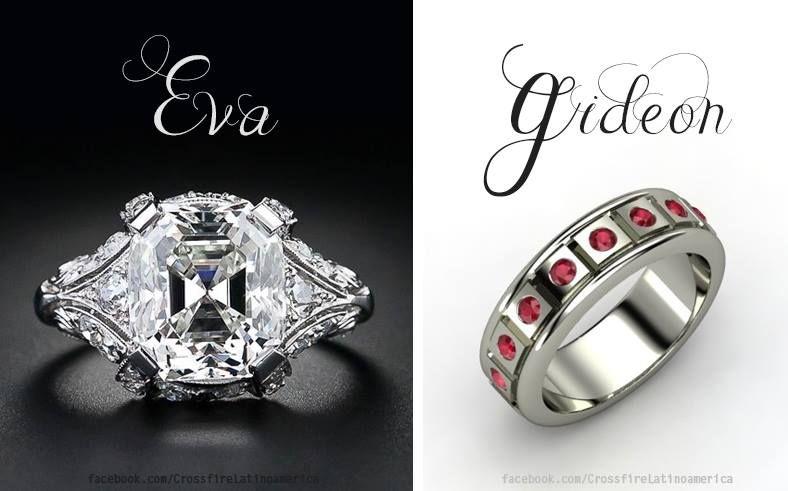 Eva And Gideon Wedding Rings Eva E Com Diamante E Do Gideon Com