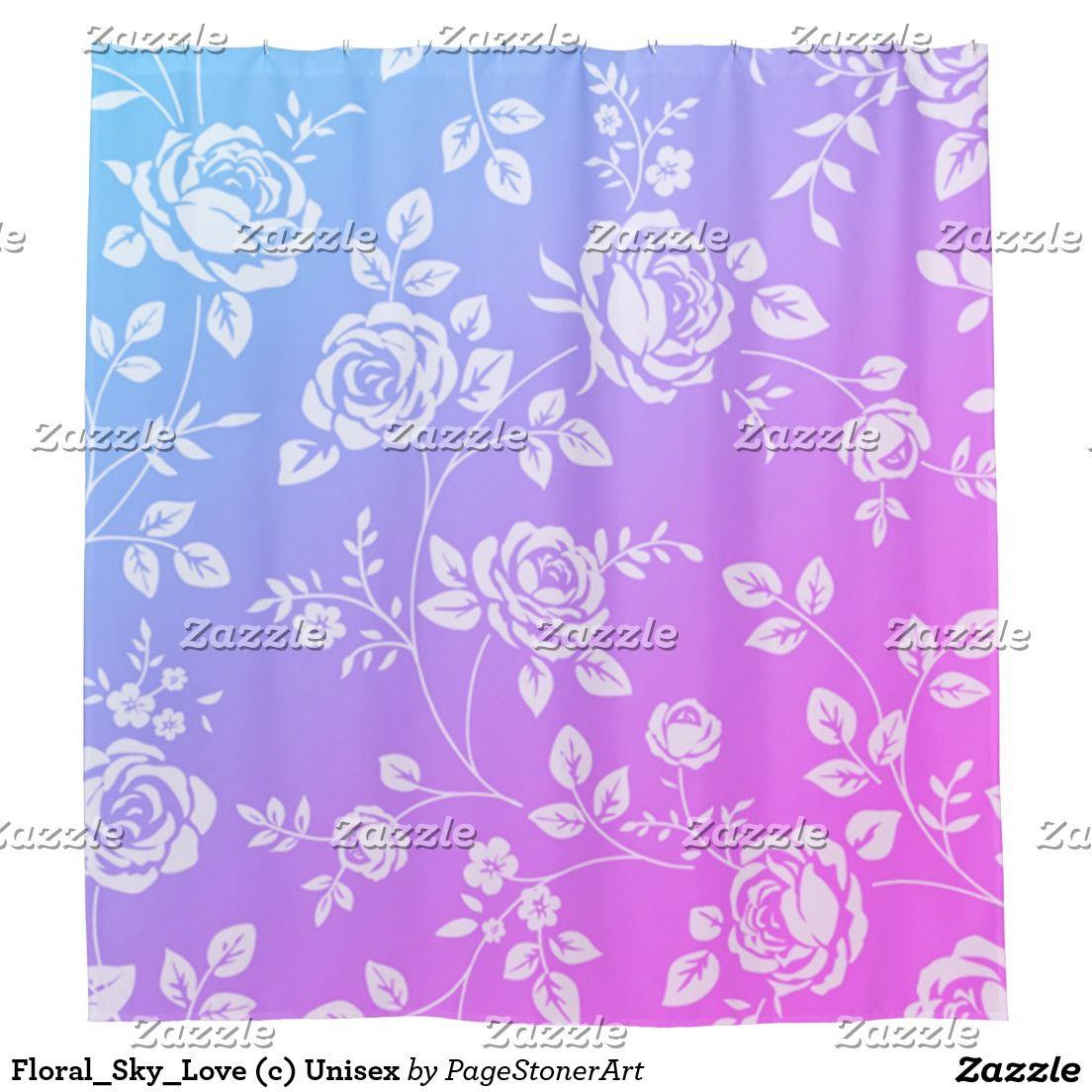 Floralskylove c unisex shower curtain