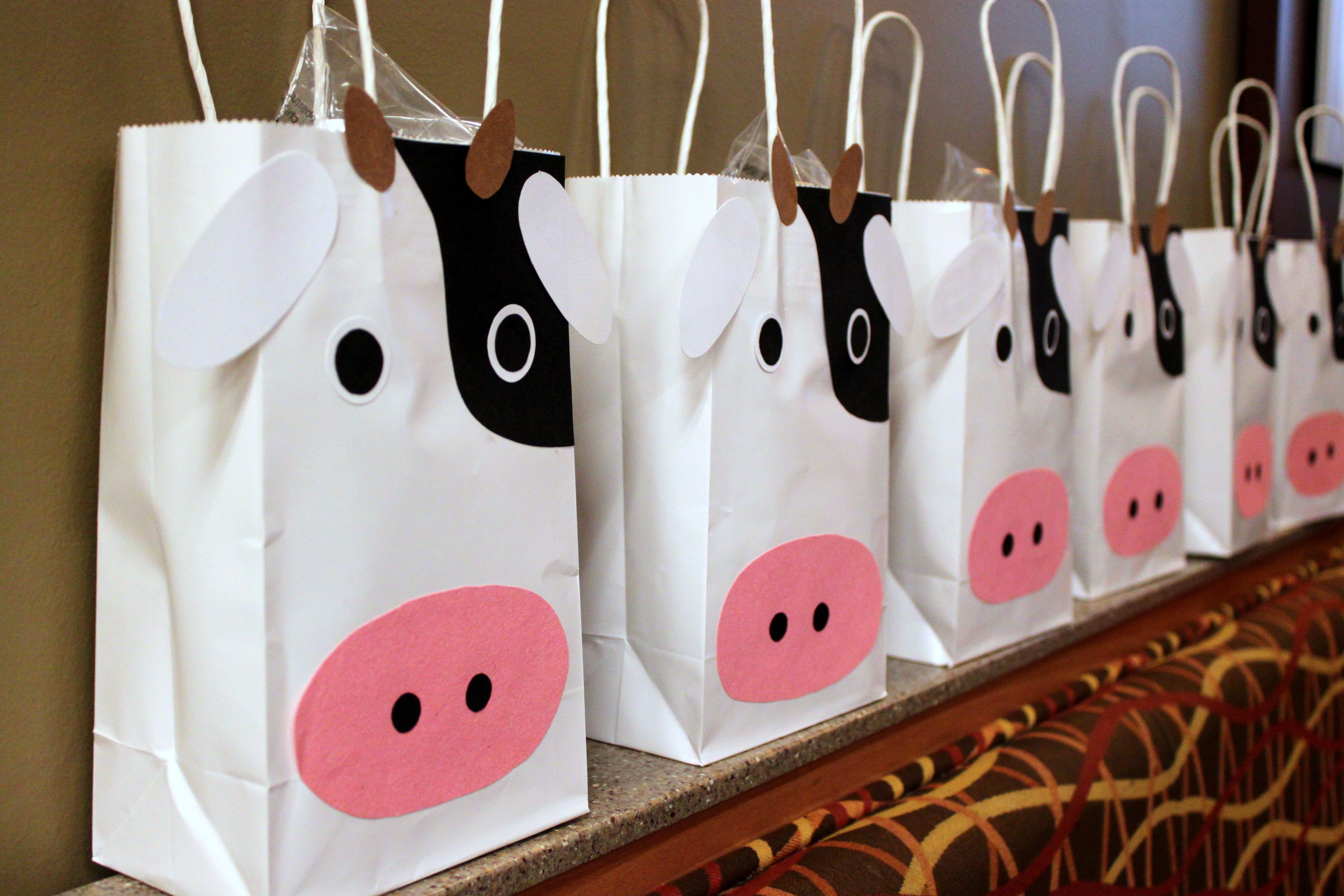 Cow Gift Bags Birthday Parties Friend Gifts Farm