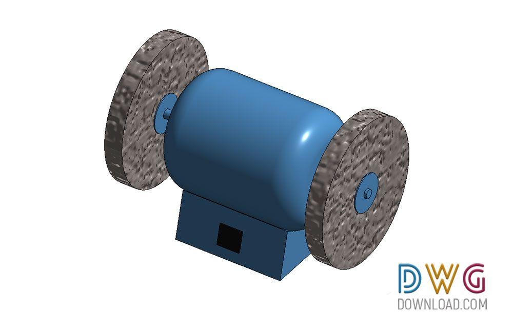 Phenomenal Dwg Download Bench Grinder Revit 3D Model Revit 3D Bim Machost Co Dining Chair Design Ideas Machostcouk