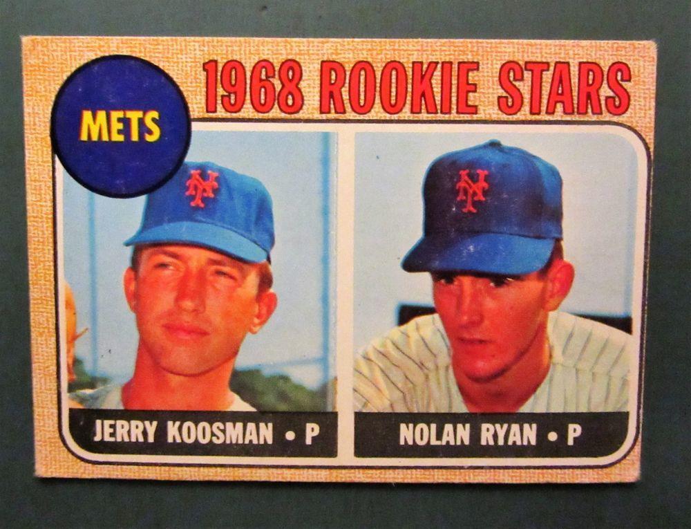 1968 nolan ryan topps 177 rookie mets hof psa