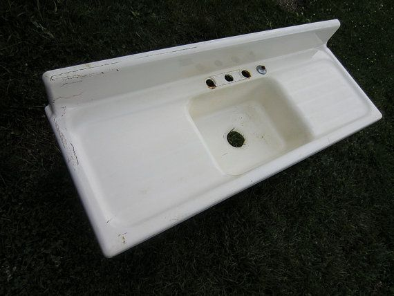 Cast Iron Farmhouse Kitchen Sink Vintage Modern Single