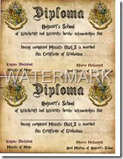 Harry potter party printable diplomas the printable party shop harry potter party printable diplomas the printable party shop yadclub Image collections