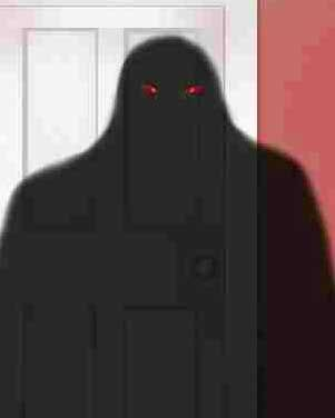 Shadow people with red eyes