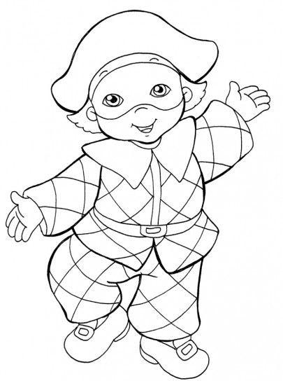 Disegni maschere di carnevale da colorare e stampare for Arlecchino disegno da stampare