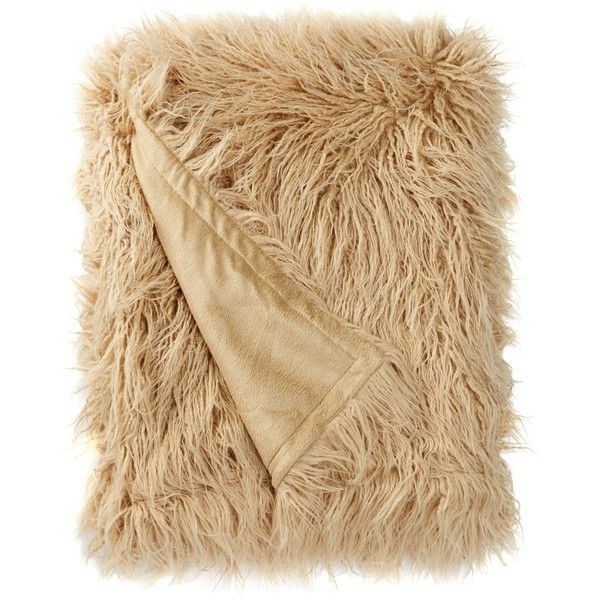 Nordstrom Rack Flokati Faux Fur Throw (€47) ❤ liked on Polyvore featuring home, bed & bath, bedding, blankets, tan taos, nordstrom rack, fake fur blanket, taupe bedding, faux fur bedding and faux fur blanket throw