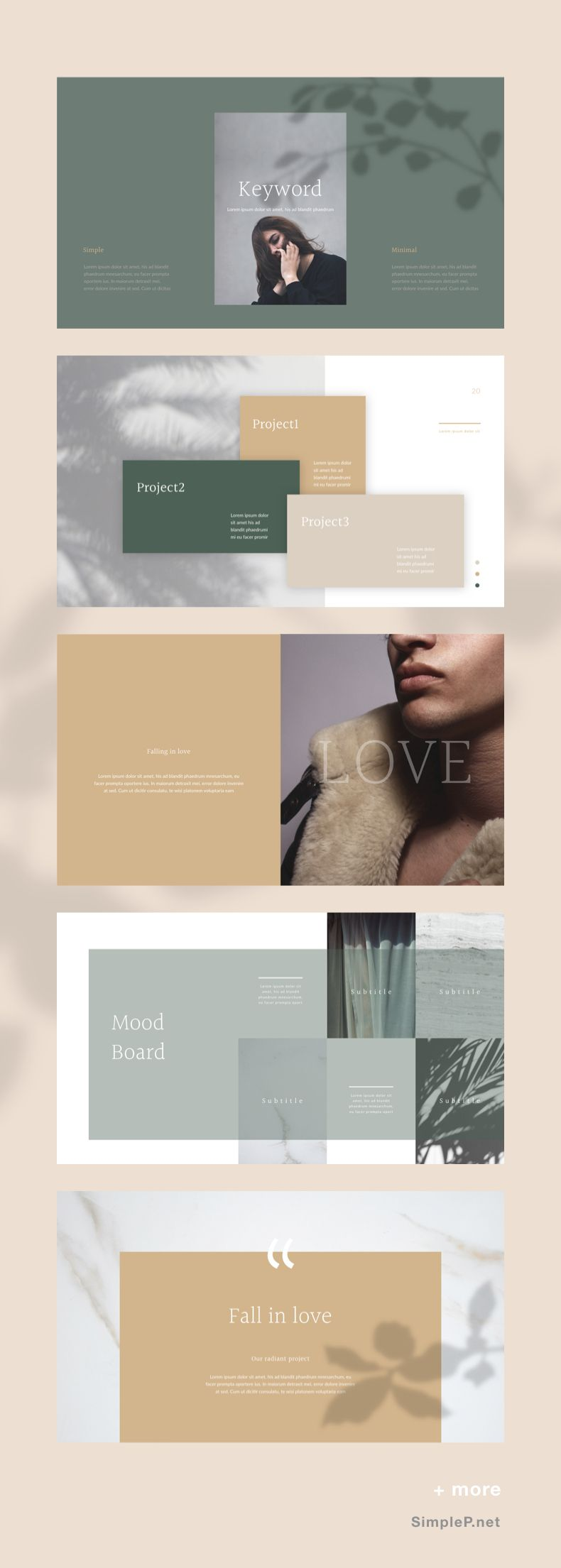 glory presentation powerpoint template keyword mood board love
