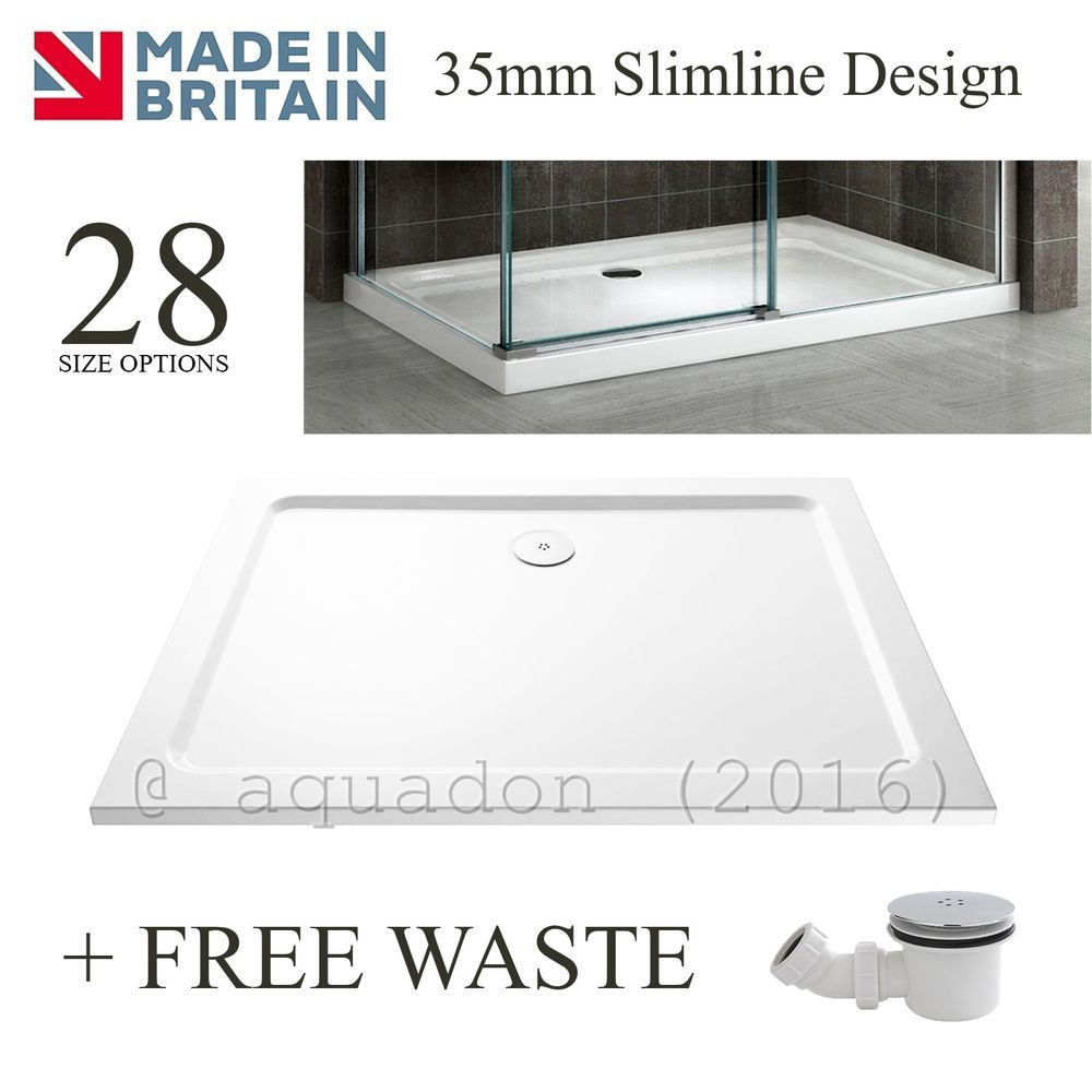 Details About Slimline 45mm Rectangle Square Shower Enclosure Tray