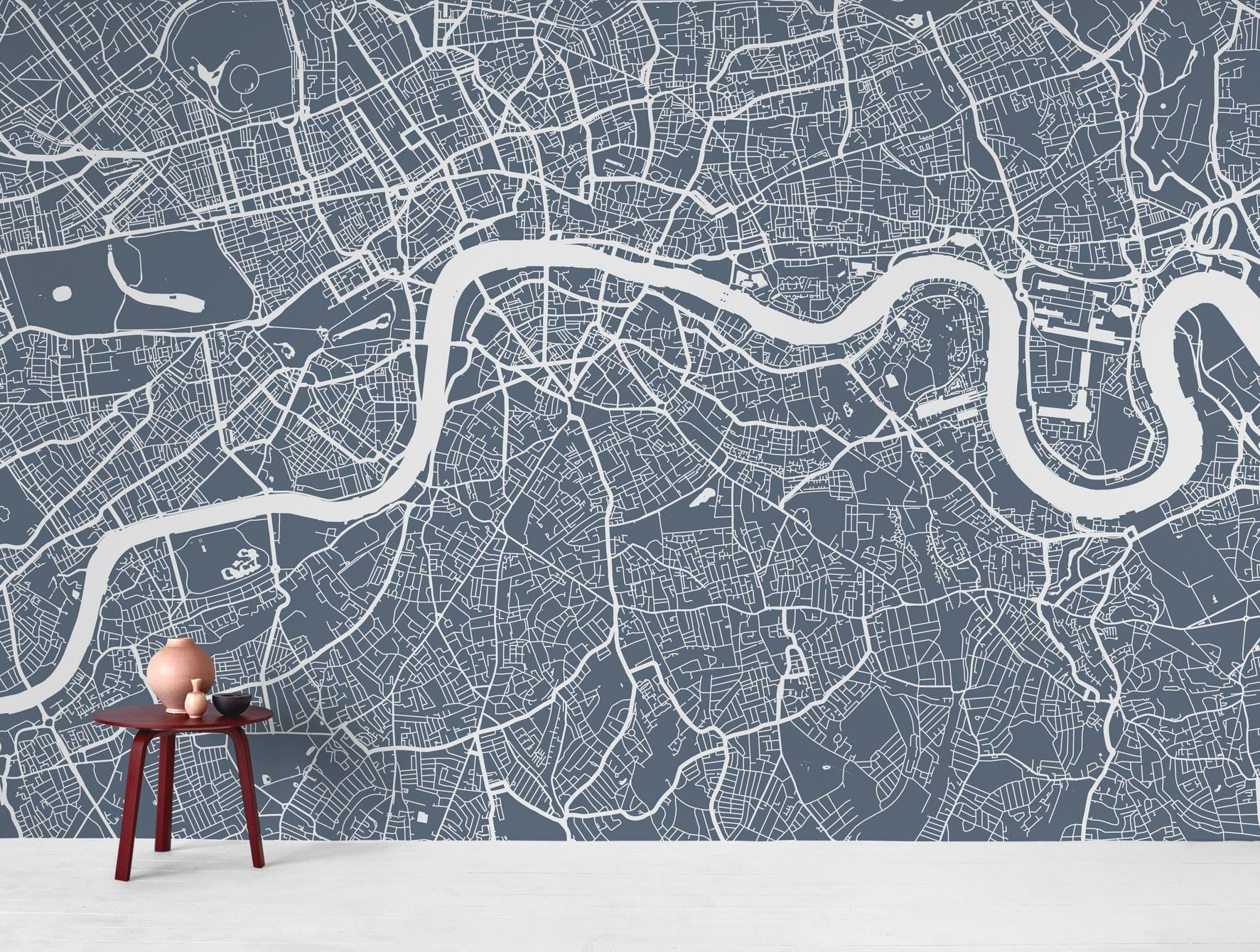 London City Map Wall Mural With Images Map Wall Mural Map