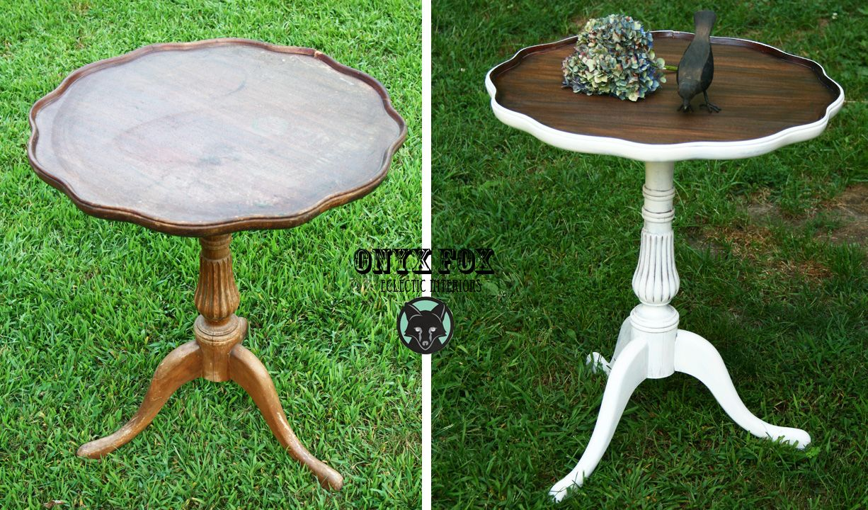 Painted Pie Crust Table Before & After!