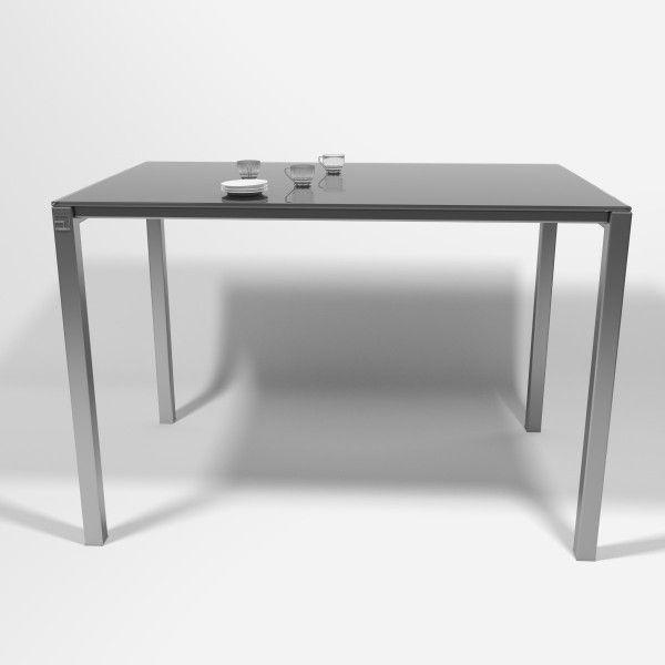 Mesas para cocina Logic de cancio, con cristal en gris brillo ...