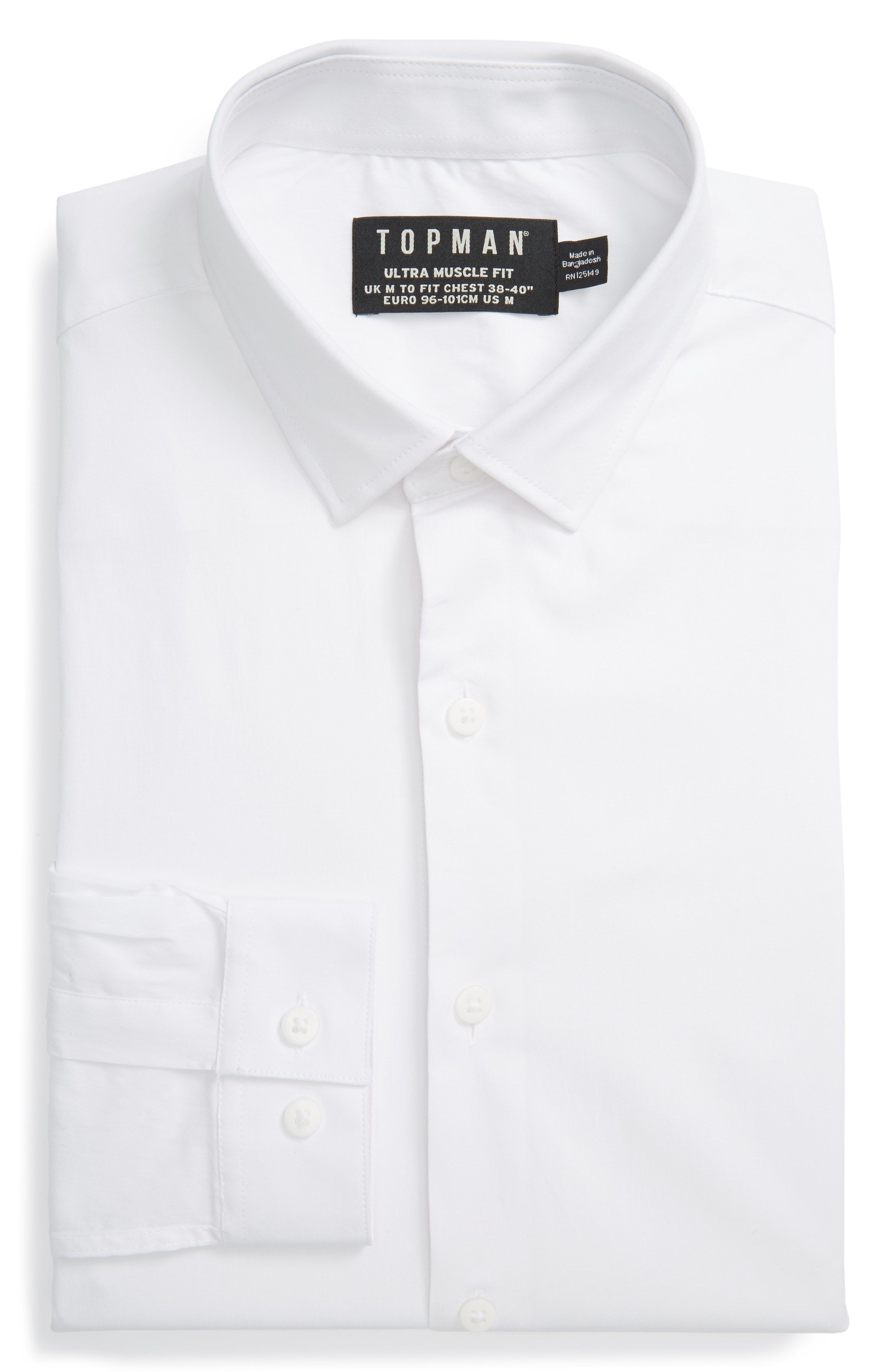3b397254d9ad New Topman Ultra Muscle Fit Dress Shirt ,STONE fashion online.  [$55]newtstyle top<<