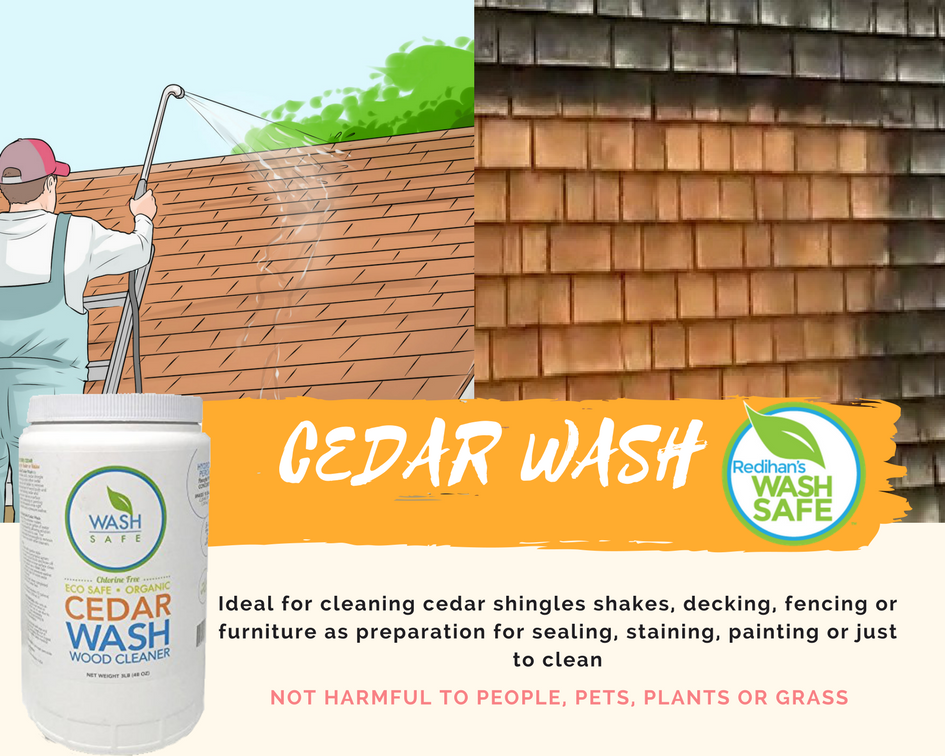Best Ideal For Cleaning Cedar Shingles Shakes Decking Fencing Or Furniture As Preparation For 400 x 300
