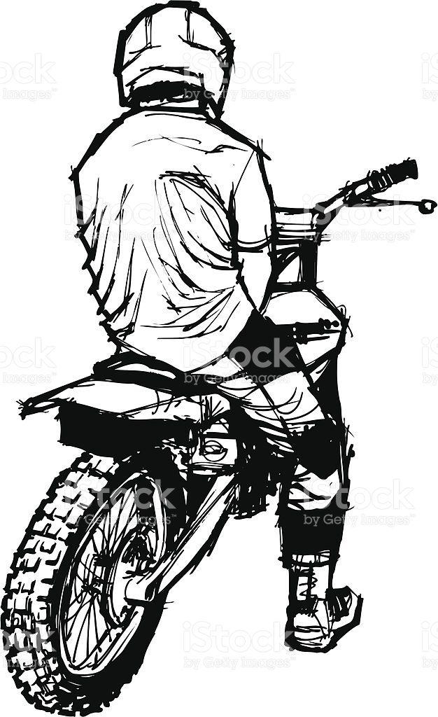 Motocross Na Ladeira Foto Royalty Free