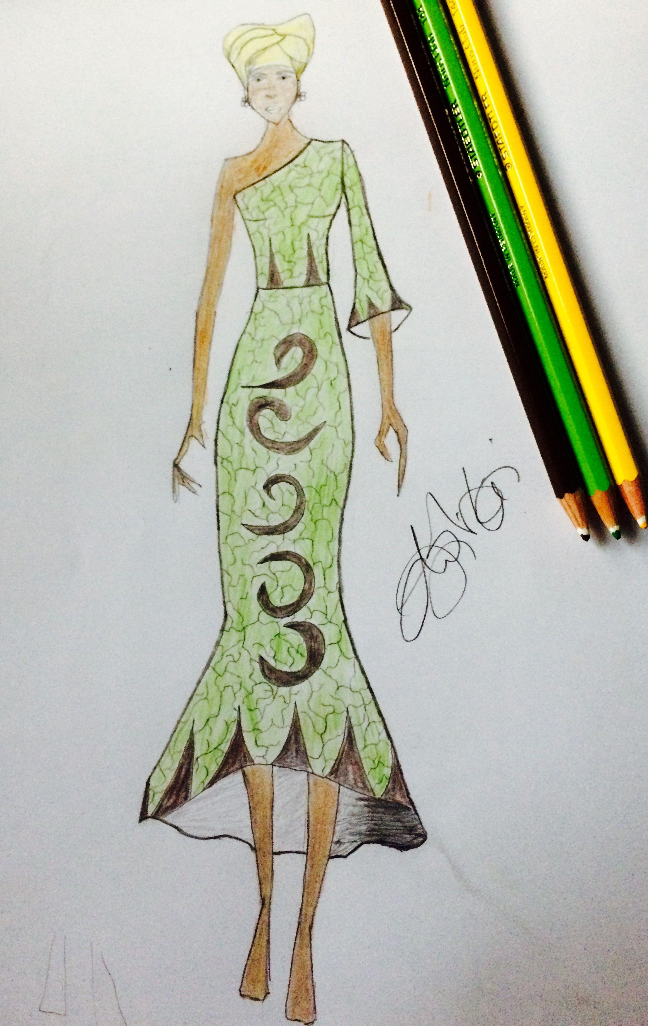 Fashion Illustration Nigeria Ankara Illustration Learning Illustration Aurora Sleeping Beauty Drawings