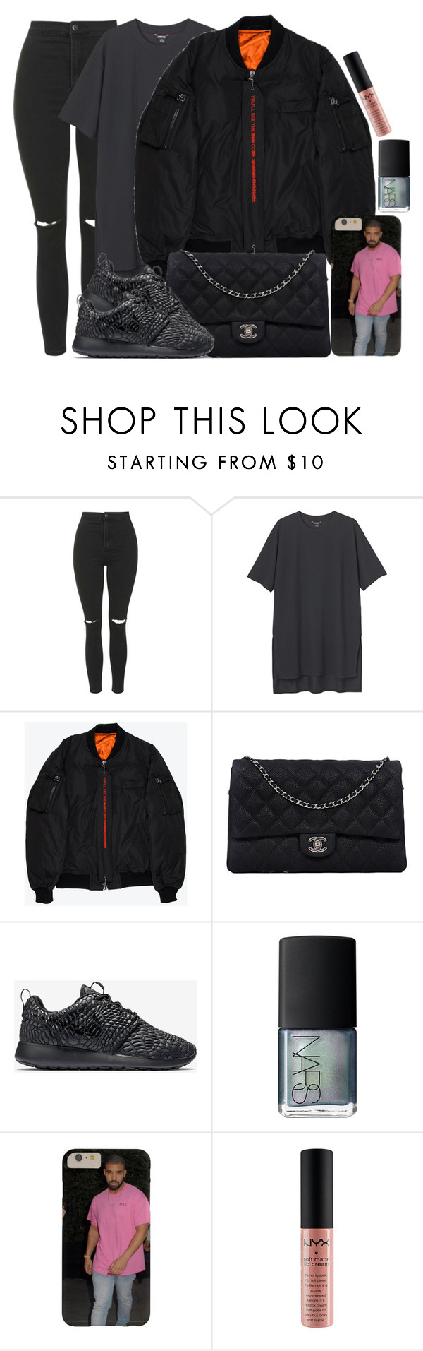"""""""Nike, Monki and Chanel"""" by camrzkn ❤ liked on Polyvore featuring мода, Topshop, Monki, Komakino, Chanel, NIKE, NARS Cosmetics и NYX"""