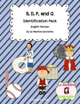 B, D, P, and Q Letter Reversal Practice (English)