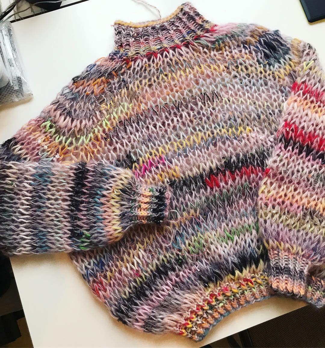 "Photo of Lærke Bagger on Instagram: ""It's almost see through 👀 #laerkebagger #knitwear #scrapknitting"""