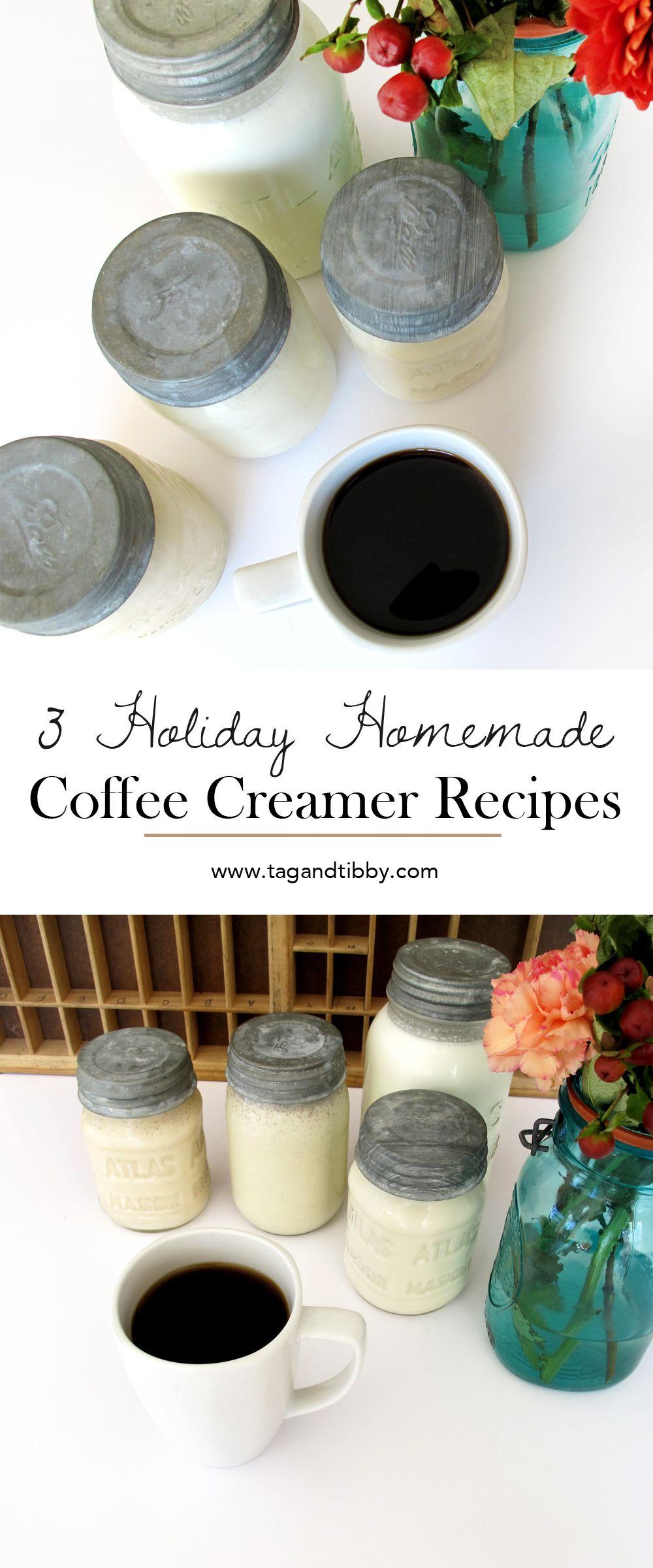 3 homemade holiday coffee creamers #frenchvanillacreamerrecipe
