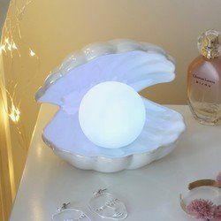 Iridescent Pearl LED Night Light #mermaidbedroom