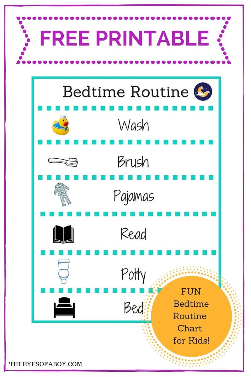 Free Printable Bedtime Routine Chart For Little Kids And Toddlers Bedtime Routine Chart Kids Bedtime Routine Bedtime Chart