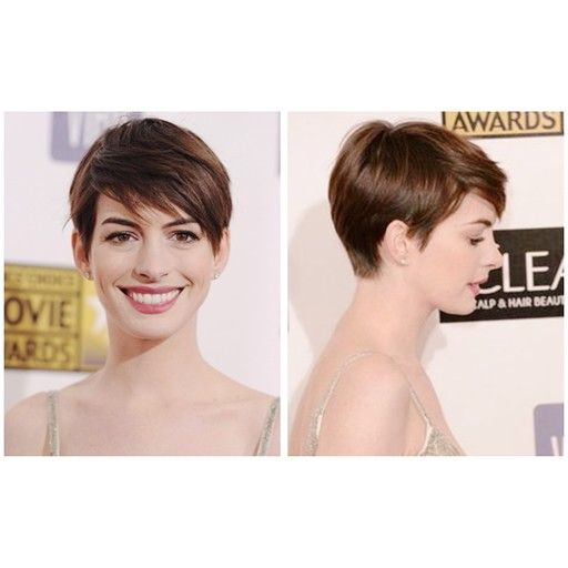 anne hathaway pixie cut reference
