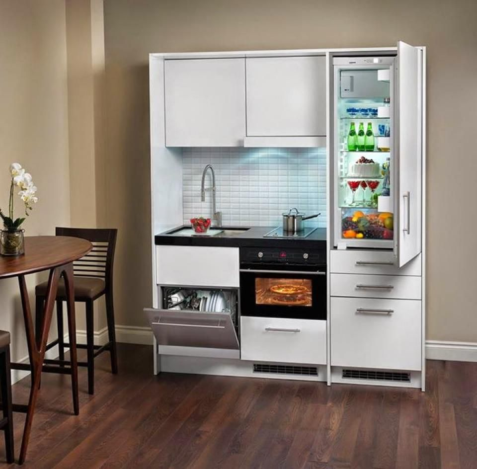 Best Designs For Very Small Condo: Ergonomic-small-cabinet-appliances-for-small-apartments