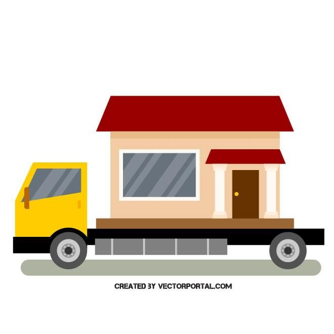 Home Moving Truck Vector Image With Images Moving Truck
