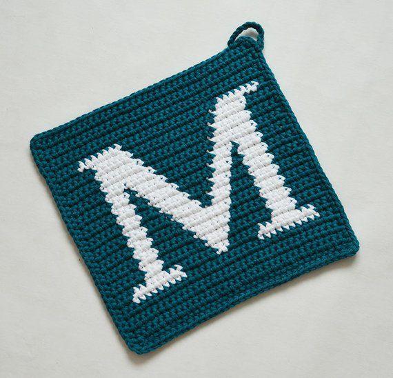 Letter M Potholder Crochet Pattern For Beginners Kaka