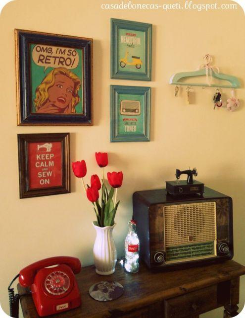 Decora o de sala simples objetos vintage meu - Objetos vintage ...