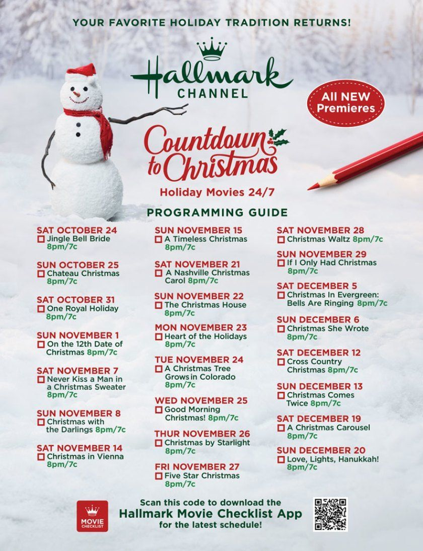 Get Ready For Christmas With 40 All New Hallmark Channel And Hallmark Movies Mysteries Original Movie Premieres In 2020 Christmas Countdown Christmas Hallmark Movies