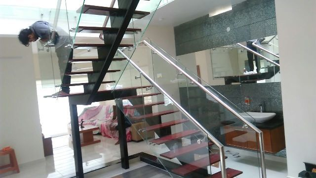 Best Cost Of Stainless Steel Handrail Works Kochi Kerala Ernakulam Glass Railing In 2019 400 x 300