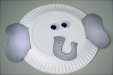 paper plate elephant   Indesign Arts and Crafts & paper plate elephant   Indesign Arts and Crafts   Toddler Room ...