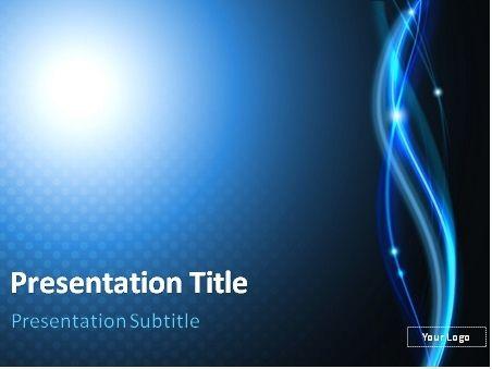 FREE Dark blue luminous PowerPoint template This PowerPoint - it powerpoint template