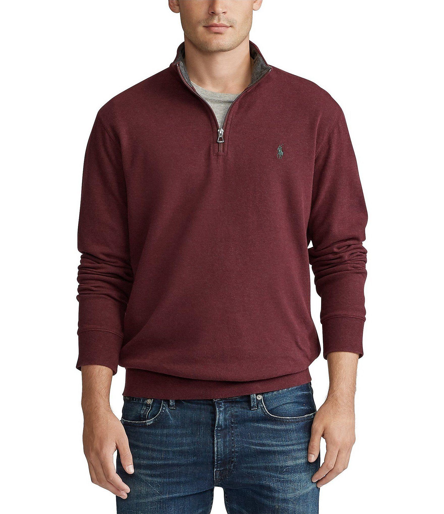 Polo Ralph Lauren Luxury Jersey Half Zip Pullover Dillard S In 2020 Pullover Men Polo Ralph Lauren Half Zip Pullover