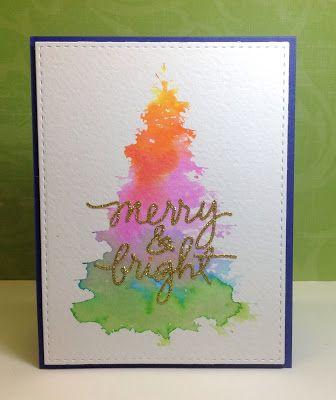 Einfache weihnachtskarte sch ner weihnachtsbaum mit for Weihnachtskarten pinterest