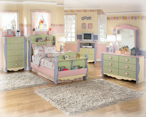 The Doll House Dresser and Mirror set brings character and cuteness